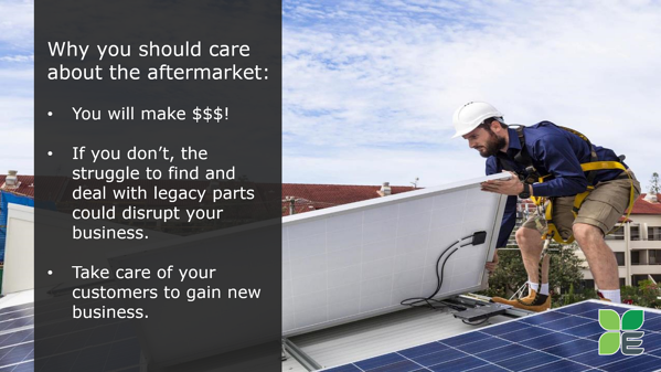 Take care of your customers through their solar system end-of-life