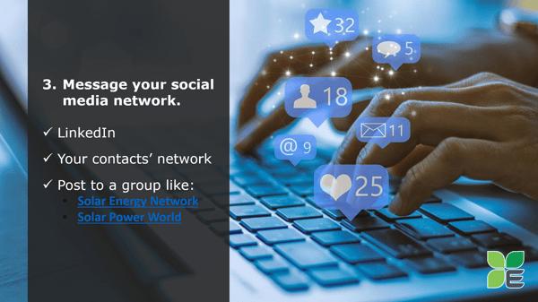 Technique 3: Message your social media network.