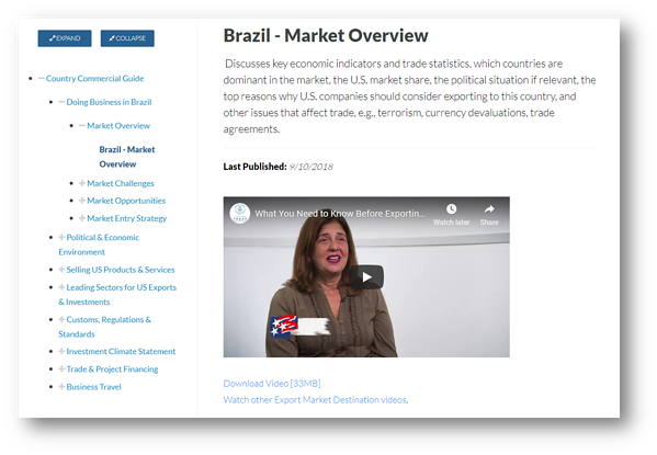 Brazil Country Commercial Guide on Export.Gov