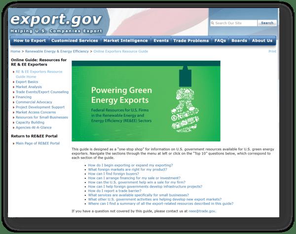 REEE Portal on Export.Gov