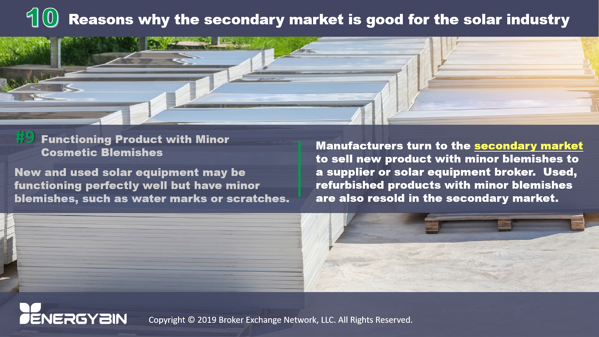 10 Reasons why the secondary market is good for the solar industry_9